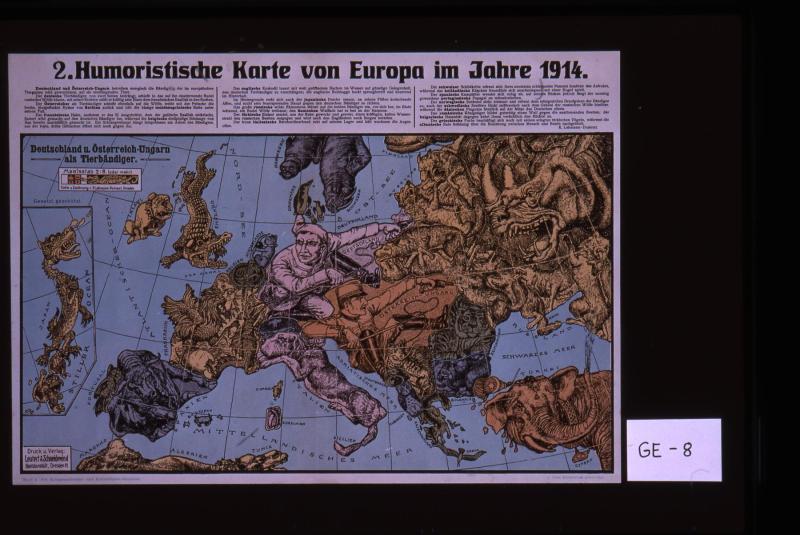 Humoristische Karte Von Europa 1914.Humoristische Karte Von Europa Im Jahre 1914 Works